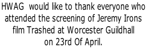 HWAG  would like to thank everyone who 